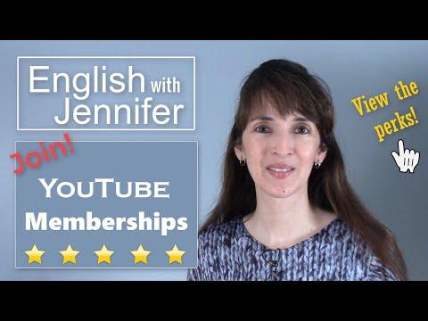 English with Jennifer ?? YouTube Memberships $1/month!