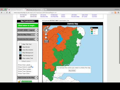 UK Postcode Areas And Districts Map Colouring Tool Tutorial