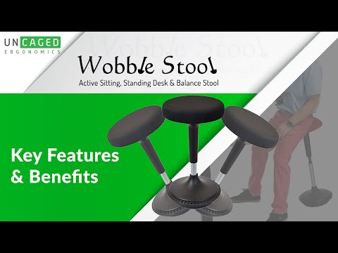 Wobble Stool - Active Sitting Balance Chair - Perfect Sit/Stand Stool