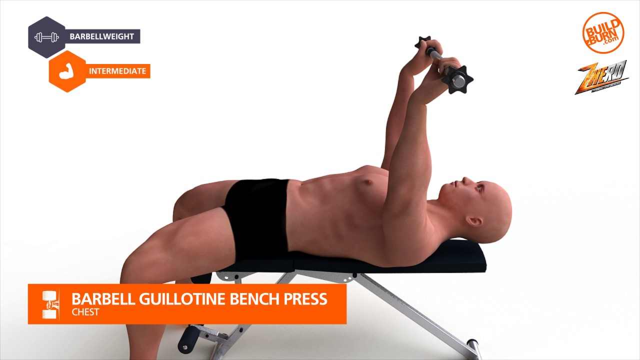 Guillotine Bench Press Part - 21: Chest Barbell Guillotine Bench Press