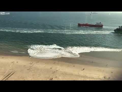 Ship Owners Charged After Giant Wake Sends Beach-goers to Hospital