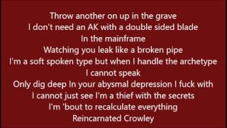 POUYA x GHOSTEMANE - 1000 ROUNDS (LYRICS)