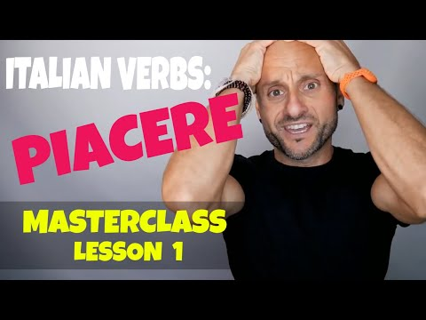 How to say TO LIKE in Italian [PIACERE MasterClass] - Lesson 1