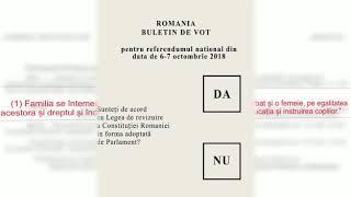 Cum va arăta buletinul de vot la referendum și ce înseamnă întrebarea cuprinsă în el