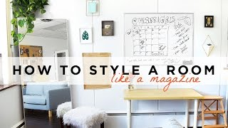 WHY DOESN'T MY SPACE LOOK LIKE A MAGAZINE? STYLING TIPS + GIVEAWAY | THE SORRY GIRLS