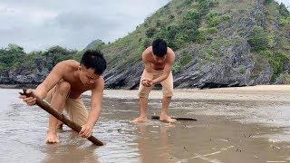 Wild island survival challenge - Survival skills on desert island (part 1)