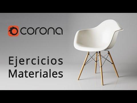 Corona Render Ejercicio de creación de materiales básicos
