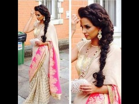 Hair Styles For Sarees YouTube