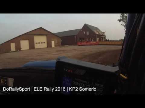 Dorallysport onboard @ KP3 Somerlo ELE Rally 2016