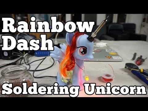 Barb Noren makes soldering iron unicorns