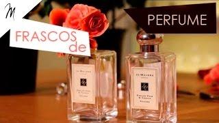 Decorando com Vidro de Perfumes