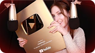 ASMR Magic ✨ Gold Play Button Unboxing, My Story, Anxiety & Gratitude ❤️ Whispered w/ Tapping etc.
