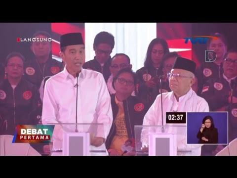 Live Streaming Debat Jokowi - Maruf dengan Prabowo - Sandiaga