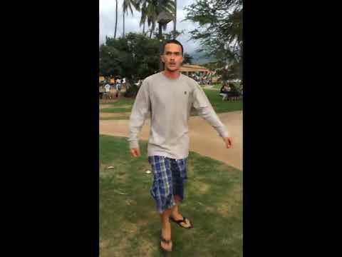 Kalama Beach, Maui, Hawaii - Man Threatens Women, Anti-Haoles