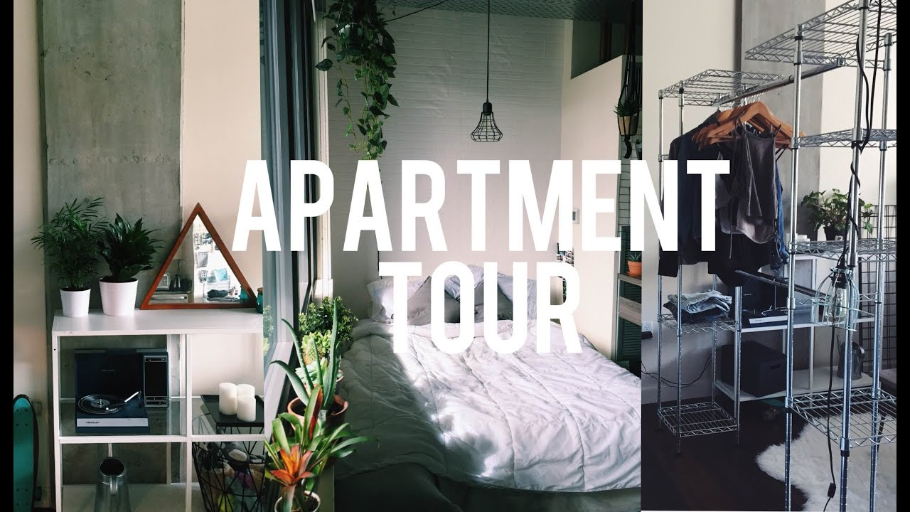 Studio Apartment Tour my apartment tour | viviannnv - youtube