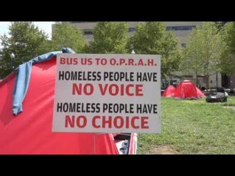 Mayor Cuts Deal to Move Homeless Tents From Outside City Hall