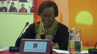 Commissioner Angie Makwetla on the importance of Hearing on Migration, Xenophobia..