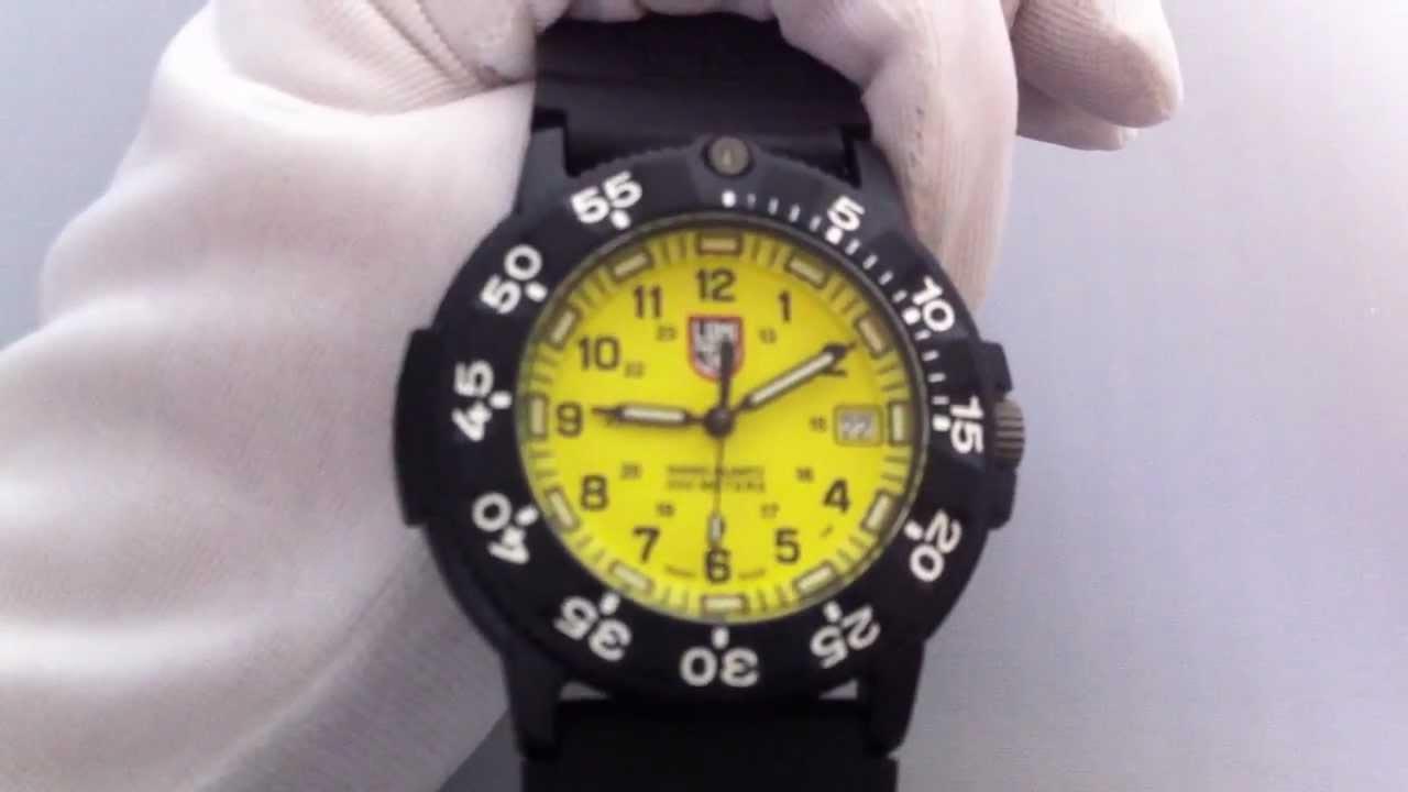 Men 39 s luminox original navy seal dive watch 3005 youtube - Navy seal dive watch ...