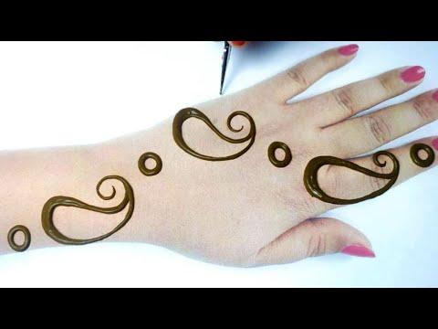 आसान मेहँदी डिज़ाइन लगाना सीखे - New Stylish Mehndi Design for Hands 2020