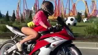 Девушка на мотоцикле 3