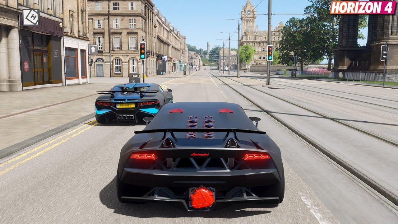 Forza Horizon 4 - Lamborghini Sesto Elemento | Goliath Race Gameplay