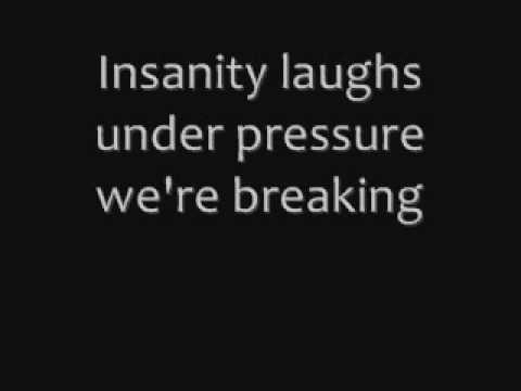 Queen, Under pressure - lyrics