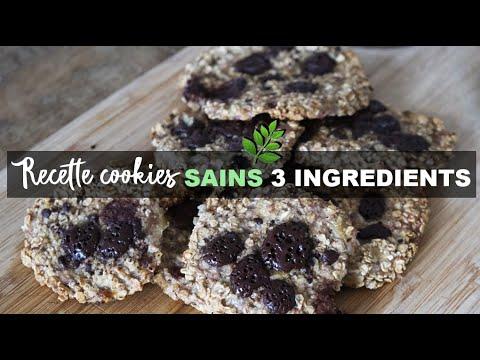🍪recette-cookies-:-sains-avec-3-ingrÉdients-seulement-!-🍪