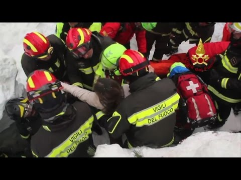 Two girls among 8 survivors of Italy hotel avalanche