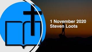 1 Nov 2020   Steven Loots 1