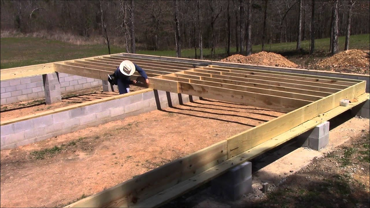Building My Own Home Episode 18 Laying Out The Floor Joists Youtube