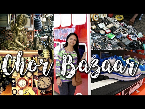 CHOR BAZAAR- No 1 (MUMBAI) Best Place For Copy Shoes,Electronic market, Antiques, (2017)