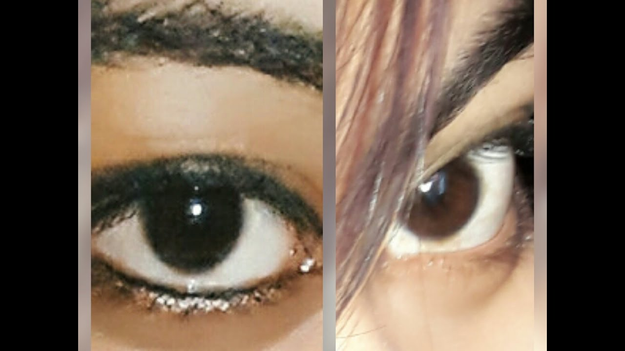 my eye color changing journey day5 from dark brown to