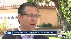 SeaWorld attendance drops in 2017