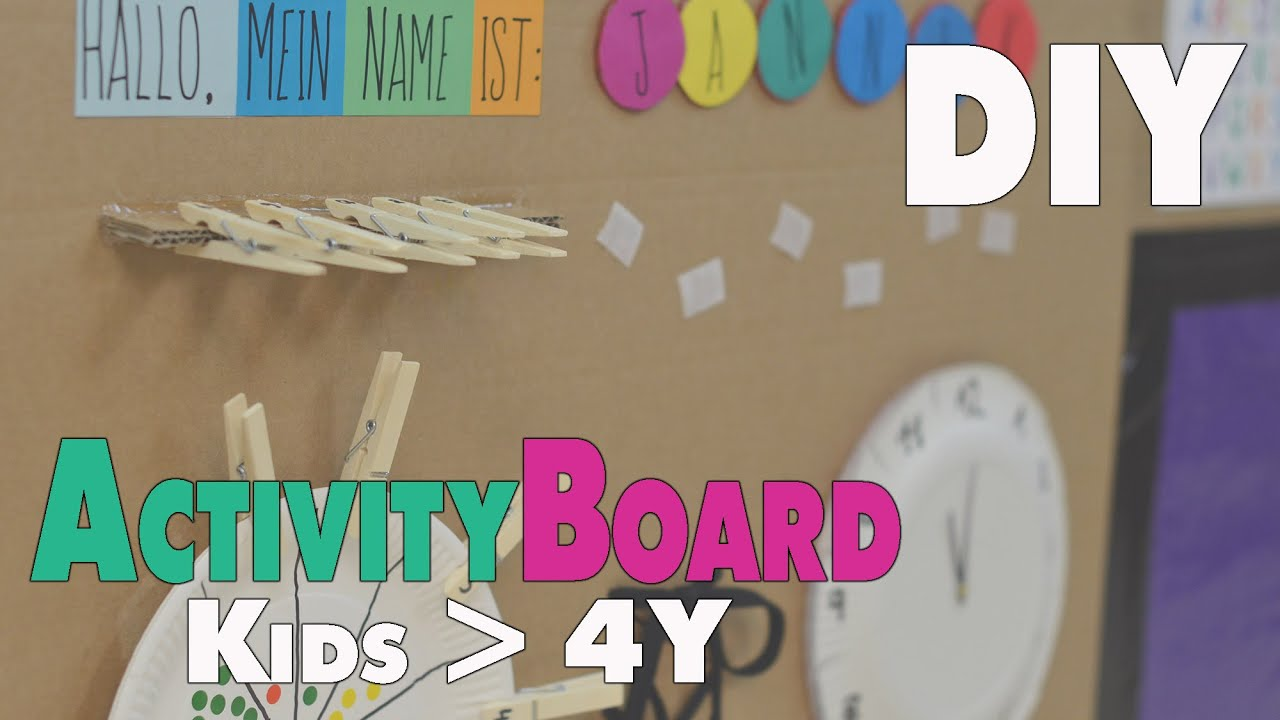 diy activity board ideen f r kinder ab 4 5 jahren mamiblock der mami blog youtube. Black Bedroom Furniture Sets. Home Design Ideas