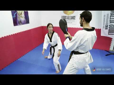 Ludus Alliance - Training Center | Side Lunge to Dollyo Chagi - Explosive Power (Taekwondo)