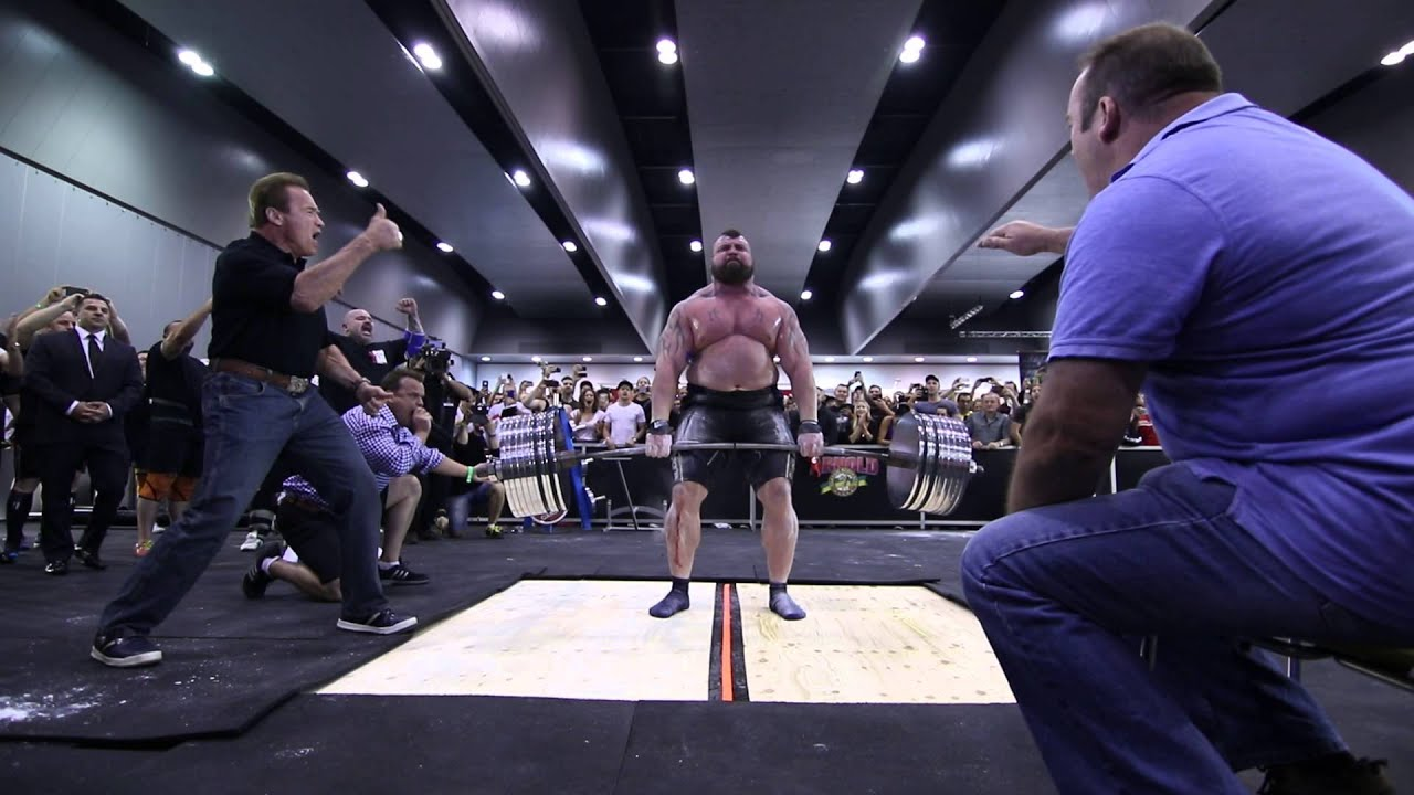 Eddie Hall - Deadlift World Record With Arnold 462kg  1018 5lbs