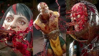 MORTAL KOMBAT 11 - All Fatalities Brutalities Liu Kang, Kung Lao & Jax Finishing Moves So Far (MK11)