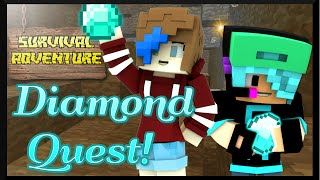 MINECRAFT SURVIVAL ADVENTURE SERIES | DIAMOND QUEST | GAMER CHAD & RADIOJH GAMES