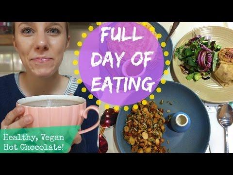 Full Day Of Eating + Healthy Vegan Hot Chocolate