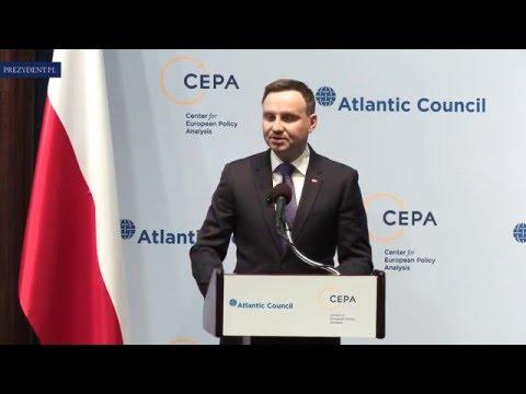 Wystąpienie Prezydenta RP w National Press Club w Waszyngtonie (English)