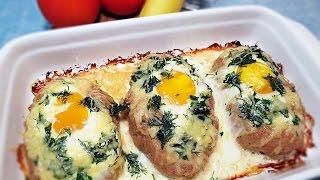 Свиной шницель с яйцом