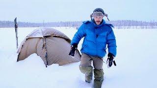 Snowy Tent Overnight