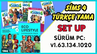 The Sims 4 Türkçe Yama Windows 7-8-10 Setup Kurulum (v1.63.134.1020)