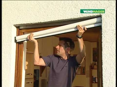 windhager insektenschutz klemm rollo aluprofi f r fenster youtube. Black Bedroom Furniture Sets. Home Design Ideas