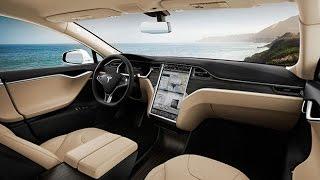 Tesla, la voiture qui se commande avec un smartphone #MondialAuto