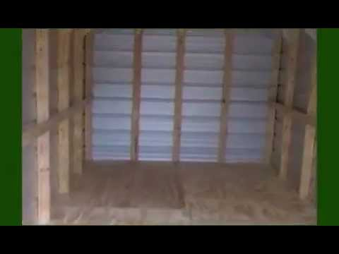 How to build a shed: metal wall and roof