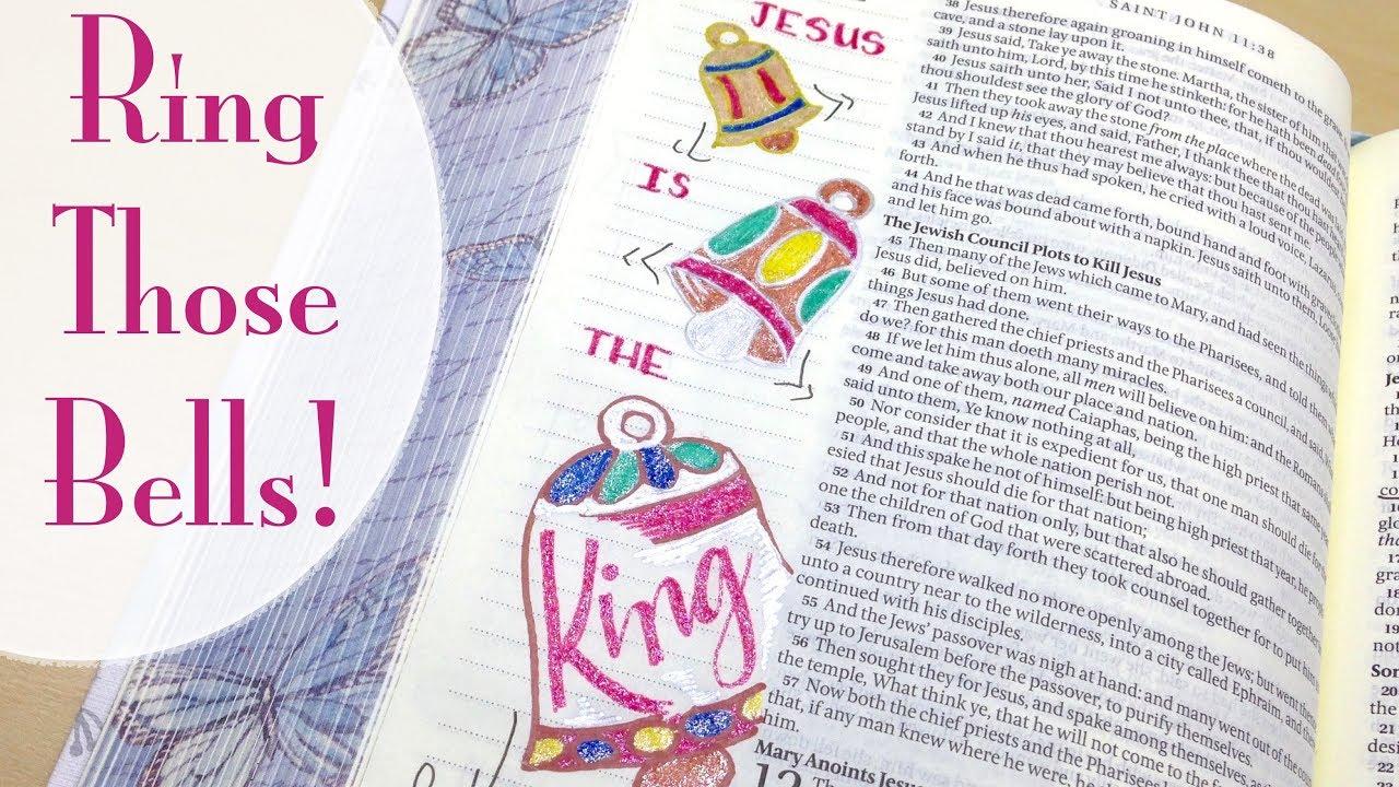 Christmas Bible Journaling with Gel Pens | Jesus is the King (John ...