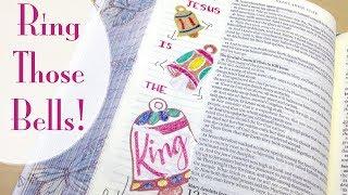 Christmas Bible Journaling with Gel Pens   Jesus is the King (John 12:15)
