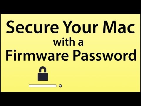 Secure Your Mac With A Firmware Password