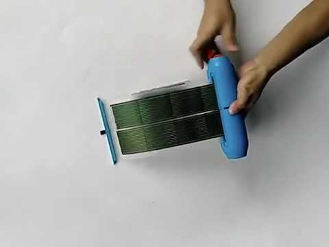 Thin  film solar power supply